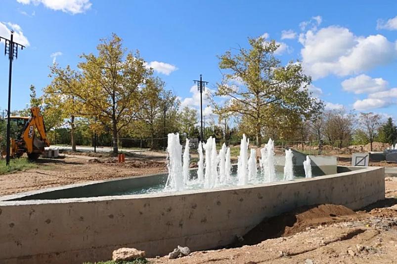 В Парке Победы реализован еще один этап реконструкции: Запущены в тестовом режиме фонтаны