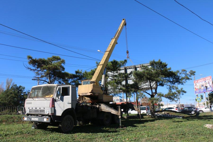 В Севастополе за 2018 год демонтировали 842 рекламных щита