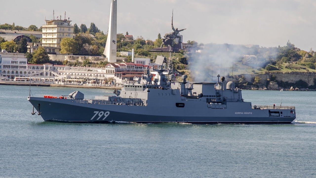 Фрегат Черноморского флота «Адмирал Макаров» покинул Севастопольские берега и взял курс на Средиземное море