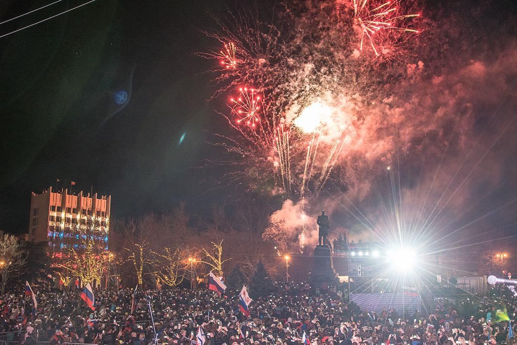 Путин в Крыму, март 2019. Концерт, салют, реакция жителей.