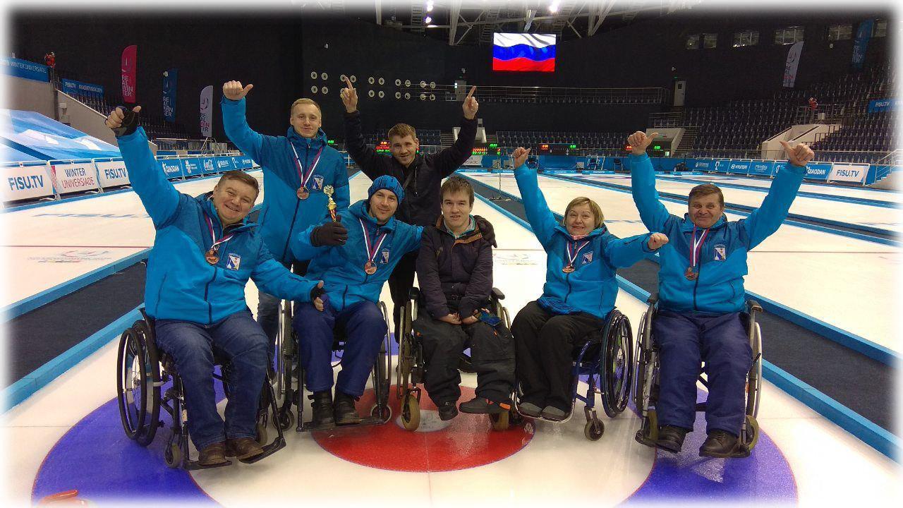 Бронза севастопольцев в Чемпионате России по кёрлингу на колясках