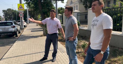 Активисты ОНФ проинспектировали ход дорожных работ на ул. Руднева