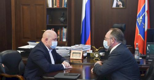 Губернатор провёл встречу с главой Главгосэкспертизы России Игорем Маныловым