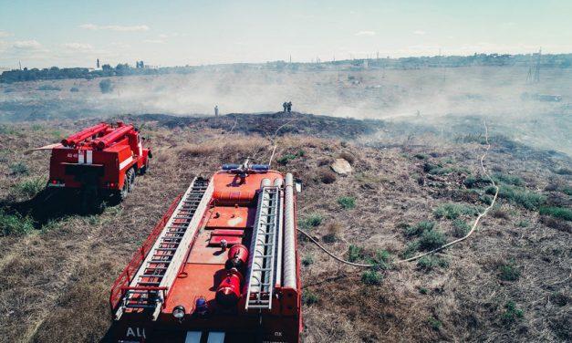 Очередной пожар в Севастополе уничтожил растительность на гектаре земли