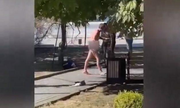 В центре Севастополя задержали голого мужчину