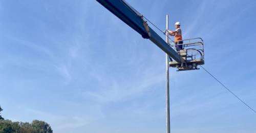 В Севастополе продолжается обустройство уличного освещения